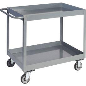 "Jamco 3"" Lip 2 Shelf Service Cart LT136 1200 Lb. Capacity 18 x 36"