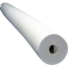 "Insul-Tube® 6'L, 1/2"" Wall Thickness, 5/8"" Nom. I.D - White - Pkg Qty 54"