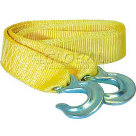 """K-Tool 73801 7000 Lb. Capacity Tow Strap 10' x 1-7/8"""" with Forged Hooks"""