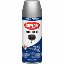 Krylon High Heat Paint Bbq & Stove Aluminum - K01407 - Pkg Qty 6