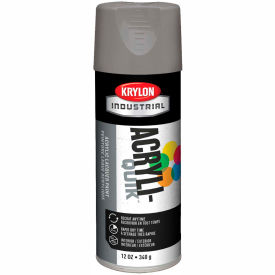 Krylon (5-Ball) Interior-Exterior Paint Stone Gray - K01605 - Pkg Qty 6