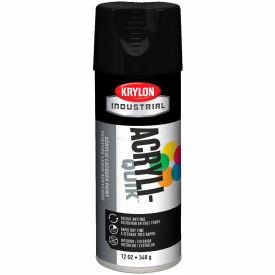 Krylon (5-Ball) Interior-Exterior Paint Semi-Flat Black - K01613A07 - Pkg Qty 6