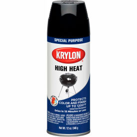 Krylon High Heat Paint Black - K01618000 - Pkg Qty 6