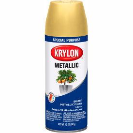 Krylon Metallic Paint Bright Gold - K01701007 - Pkg Qty 6