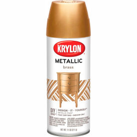 Krylon Metallic Paint Brass Metallic - K02204007 - Pkg Qty 6