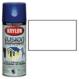Krylon Fusion For Plastic Paint Gloss White - K02320007 - Pkg Qty 6