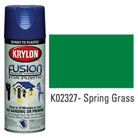 Krylon Fusion For Plastic Paint Gloss Spring Grass (Safety Green) - K02327007 - Pkg Qty 6