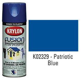 Krylon Fusion For Plastic Paint Gloss Patriotic Blue (Safety Blue) - K02329007 - Pkg Qty 6