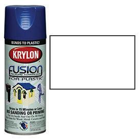 Krylon Fusion For Plastic Paint Satin White - K02420 - Pkg Qty 6