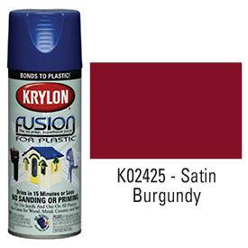 Krylon Fusion For Plastic Paint Satin Burgundy - K02425007 - Pkg Qty 6