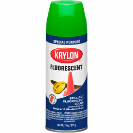 Krylon Fluorescent Indoor/Outdoor Paint Green - K03106007 - Pkg Qty 6
