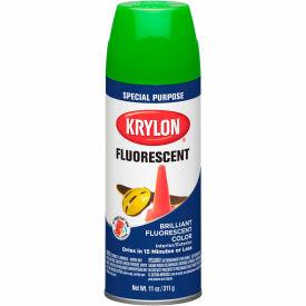 Krylon Fluorescent Indoor/Outdoor Paint Green - K03106007 - Pkg Qty 6