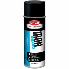 Krylon Industrial Iron Guard Latex Spray Paint Max Flat Black - K07911000 - Pkg Qty 12