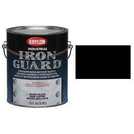 Krylon Industrial Iron Guard Acrylic Enamel Semi-Gloss Black - K11007751 - Pkg Qty 4