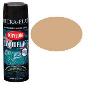 Krylon Camouflage With Fusion For Plastic Paint Khaki - K04291007 - Pkg Qty 6