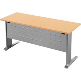"""RightAngle Training Table with L-Leg - 24"""" x 48"""", Hardrock Maple Top w/Black Base - R-Style Series"""