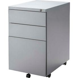 RightAngle Mobile Pedestal Box/Box/File, Silver