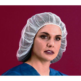 "Nylon Hairnet, Honeycomb, 1/16"" Hole, 100% Latex Free, Brown, 18"", 100/Bag, 10... by"