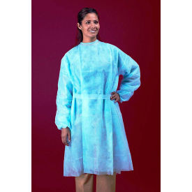 Polypropylene Isolation Gown, Rear Entry XLong Ties Yellow, One Size, 50/Case