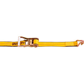 """Kinedyne Cargo Control Ratchet Strap 512784 with Wire Hook 27' x 2"""" Gold by"""