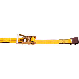 """Kinedyne Ratchet Strap 513020 with Flat Hook 30' x 2"""" Gold by"""