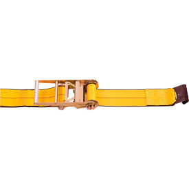 """Kinedyne Cargo Control Ratchet Strap 593021 with Flat Hook 30' x 4"""" Gold by"""