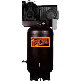 Kellogg-American L001128, 5 HP, Two-Stage, 80 Gallon, Vertical, 175 PSI, 21.6 CFM, 1-Phase, 208-230V