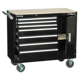 "Kennedy® 39"" 7-Drawer Roller Cabinet - Black"