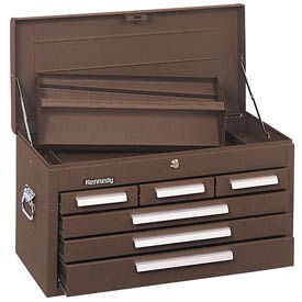 "Kennedy® 266B Signature Series 26-1/8""W X 12""D X 14-3/4""H 6 Drawer Brown Mechanics Chest"