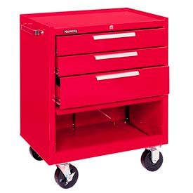 """Kennedy® 273XR K1800 Series 27""""W X 18""""D X 35""""H 3 Drawer Red Roller Cabinet"""