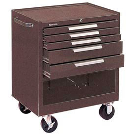 "Kennedy® 295XB K2000 Series 29""W X 20""D X 35""H 5 Drawer Brown Roller Cabinet"
