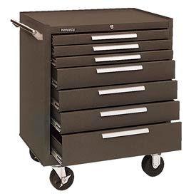 "Kennedy® 297B 29"" 7-Drawer Roller Cabinet w/ Friction Slides - Brown"