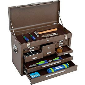 """Kennedy® 3611B Signature Series 26-1/8""""W X 12""""D X 18-7/8""""H 11 Drawer Brown Machinists Chest"""