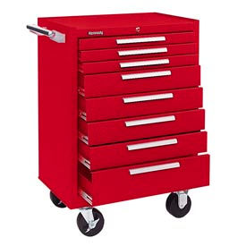"""Kennedy® 378XR 27"""" 8-Drawer Roller Cabinet w/ Ball Bearing Slides - Red"""