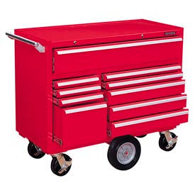 "Kennedy® 4410R 44"" 10-Drawer Roller Cabinet - Red"