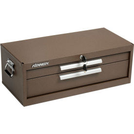 "Kennedy® 5150B Signature Series 26-3/4""W X 12-1/2""D X 9-1/2""H 2 Drawer Brown Machinists Chest"