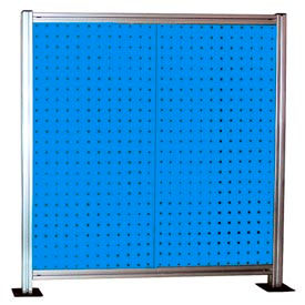 2-Panel Single-Sided Bench Mounted Stand - Blue