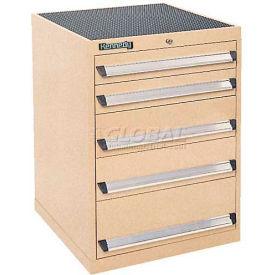 Kennedy 5-Drawer Modular Cabinet w/220 lb Cap. Suspension Slide Drawers-24x24x31-11/16, Burgundy