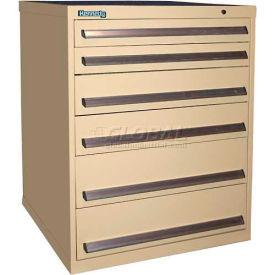 Kennedy 6-Drawer Modular Cabinet w/550 lb Cap. 100% Extension Slide Drawers - 30x30x40, Utility Blue