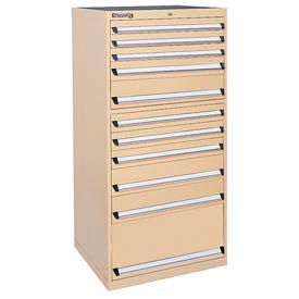 Kennedy 11-Drawer Modular Cabinet w/220 lb Cap. Suspension Slide Drawers - 30x30x60, Tan Texture