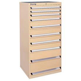 Kennedy 10-Drawer Modular Cabinet w/220 lb Cap. Suspension Slide Drawers - 30x30x60, Tan Texture