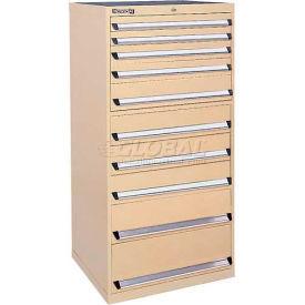 Kennedy 10-Drawer Modular Cabinet w/550 lb Cap. Full Extension Slide Drawers -30x30x60, Utility Blue