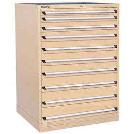 Kennedy 13-Drawer Modular Cabinet w/550 lb Cap. Full Extension Slide Drawers - 44x30x60, Tan Texture