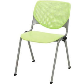 Poly Stack Chair W/ Perforated Back, Lime Green