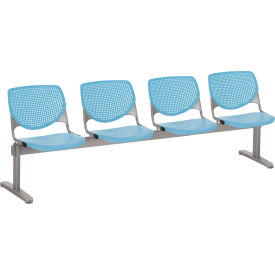 KFI Beam Seating Guest Chairs - 4 Seater - Sky Blue