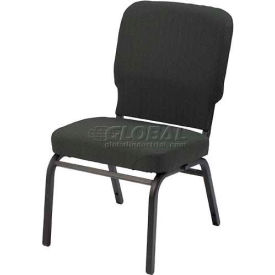 KFI Oversized Church Chair - Armless - Stacking - Slate Fabric/Black Frame