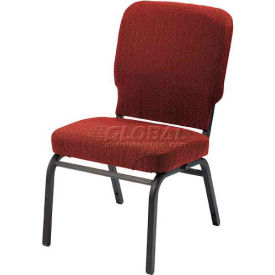 Kfi Oversized Church Stacking Armless Chair, Toreador Fabric/Black Frame