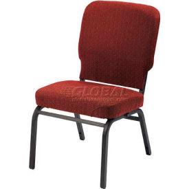 KFI Oversized Church Chair - Armless - Stacking - Toreador Fabric/Black Frame