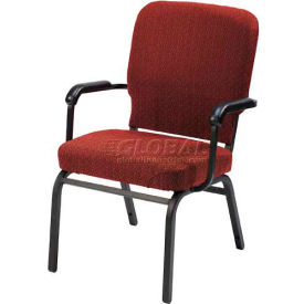 Kfi Oversized Church Stacking Chair With Arms, Toreador Fabric/Black Frame