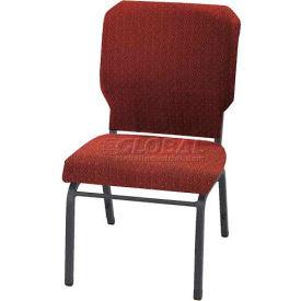 "Kfi Church Stacking Chair, 3"" Box Seat, Toreador Fabric/Silver Vein Frame"